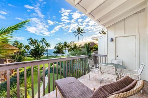 The Sandy Feet Retreat - 2BR 2BA Oceanfront Condo on Kauai's Royal Coconut Coast