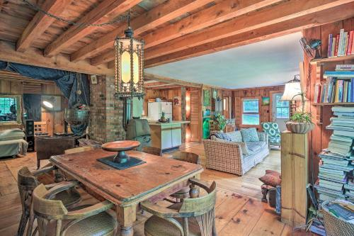 The Mill River Cabin with Fireplace and River View! - Mill River