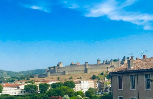 T2 cocooning vue panoramique Cité - Location saisonnière - Carcassonne