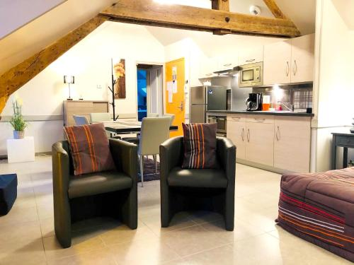 Appartement d'une chambre a La Ferriere aux Etangs avec jardin clos et WiFi a 80 km de la plage - Location saisonnière - La Ferrière-aux-Étangs