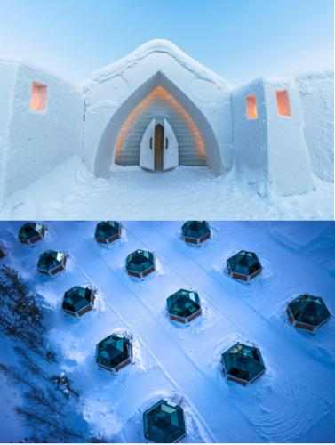. Arctic SnowHotel & Glass Igloos