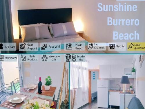 Sunshine Burrero Beach *** Lovely Coast Apartment *** Wi-Fi & Parking