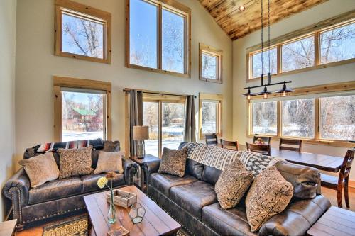 Riverfront Home with BBQ - 2 Mi to Downtown Gunnison!