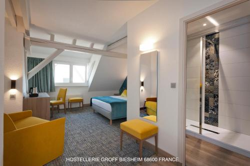 Hotel-overnachting met je hond in Aux Deux Clefs Hostellerie Groff - Biesheim