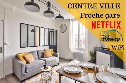 #1 Appartements BNB - Centre Ville - 200m Gare - Location saisonnière - Poitiers