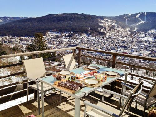 . Apartment with one bedroom in Gerardmer with wonderful lake view terrace and WiFi 2 km from the slopes