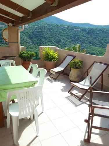 House with 2 bedrooms in Aregno with wonderful city view furnished terrace and WiFi 5 km from the beach