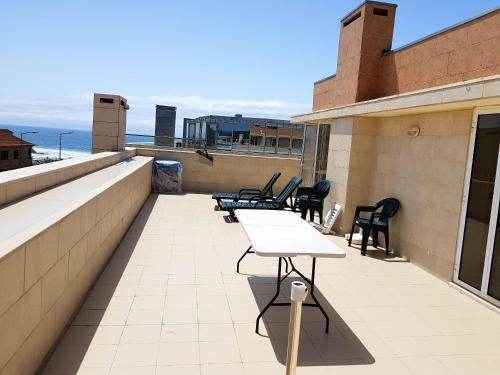 . Apartment with 2 bedrooms in Vila do Conde with wonderful sea view furnished balcony and WiFi 200 m from the beach