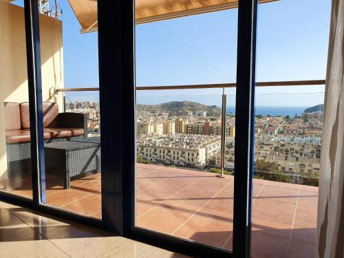 . Apartment with 2 bedrooms in Puerto de Mazarron with wonderful sea view shared pool terrace 1 km from the beach