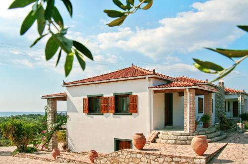 . Apartment with 3 bedrooms in Agios Ilias with wonderful sea view enclosed garden and WiFi 2 km from the beach