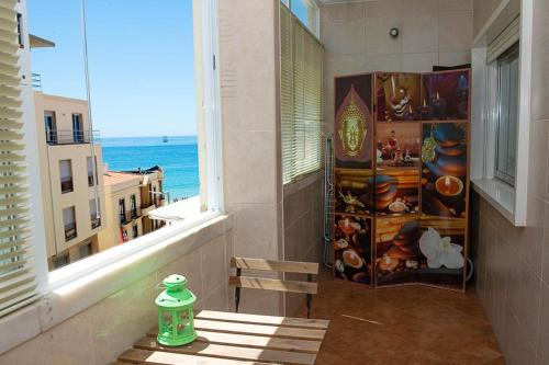 Apartment with 2 bedrooms in Sesimbra with wonderful sea view balcony and WiFi, Pension in Sesimbra