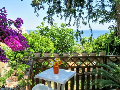 . House with 2 bedrooms in VillediPietrabugno with wonderful sea view enclosed garden and WiFi 600 m from the beach