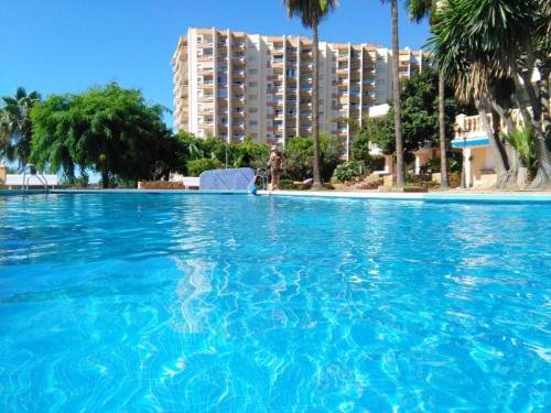 Apartment with one bedroom in Benalmadena with wonderful sea view shared pool balcony 550 m from the beach