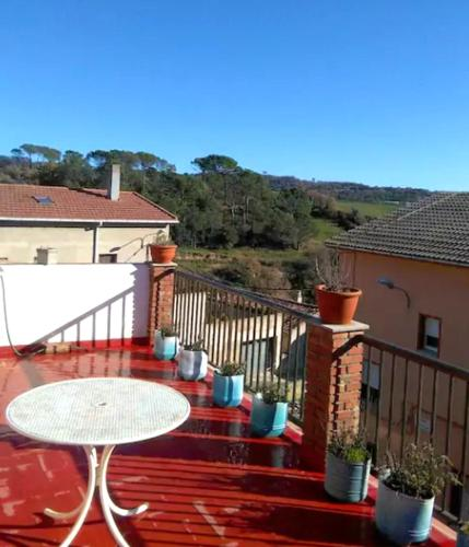 . House with 4 bedrooms in Gironella with wonderful mountain view furnished terrace and WiFi 50 km from the slopes