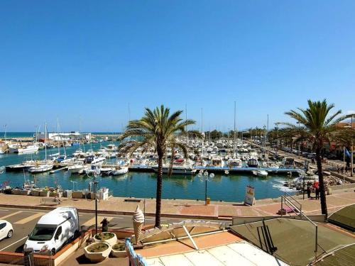 . Studio in Saint Cyprien with wonderful sea view and furnished terrace 100 m from the beach