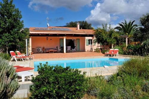 Villa with 3 bedrooms in Montegrosso with wonderful mountain view private pool enclosed garden 8 km from the beach