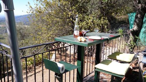 . Maison d'une chambre a Peille avec magnifique vue sur la mer jardin amenage et WiFi a 16 km de la plage