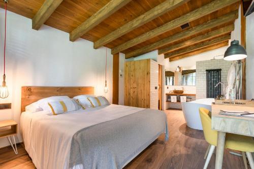 Habitación Doble Deluxe con bañera Hotel Mas la Ferreria 1