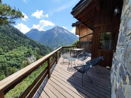 Chalet Solize - Terrasse avec superbe vue - Sauna - Champagny en Vanoise