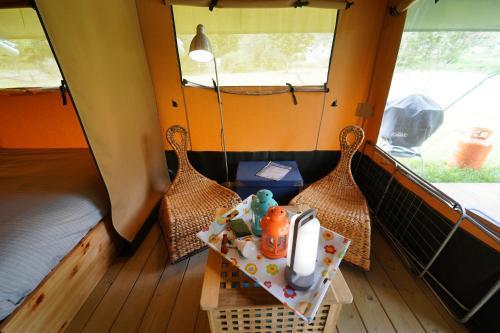 Safaritent op Camping Berkel