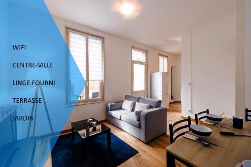 . L'Agescy 1 - Charmant T2 - Jardin - Terrasse - centre-ville La Brèche - Wifi