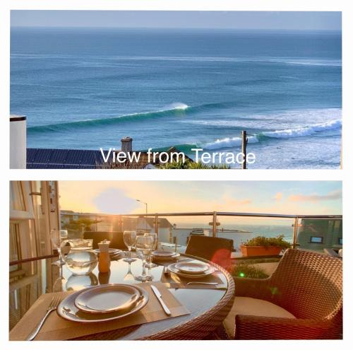 Golden Bay Apartments Clifftop Apartment 200m From Fistral Beach Sleeps 6 Dines 6 Has 4 Beds 2 B, Crantock, Cornwall