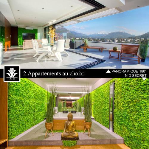 Panoramique 180 lac et montagne et Nid Secret spa romantique - Apartment - Annecy