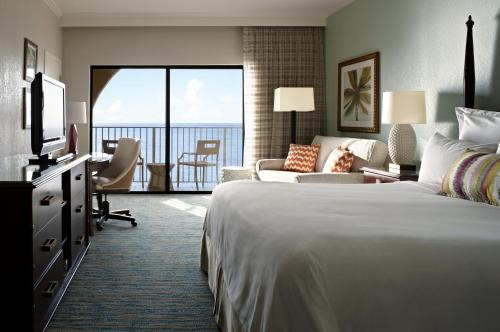 King Room with Oceanfront View and Balcony