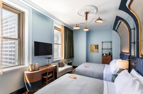 Premium Queen Room with Two Queen Beds - City View
