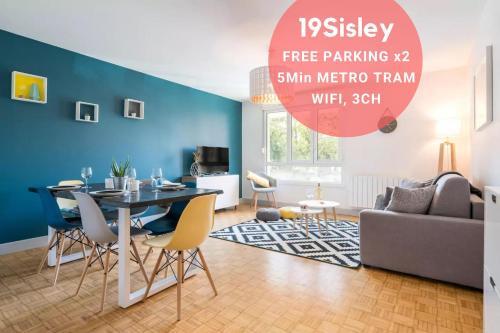 . 19Sisley - Calme & Cosy - 3CH 8P Metro Parking x2