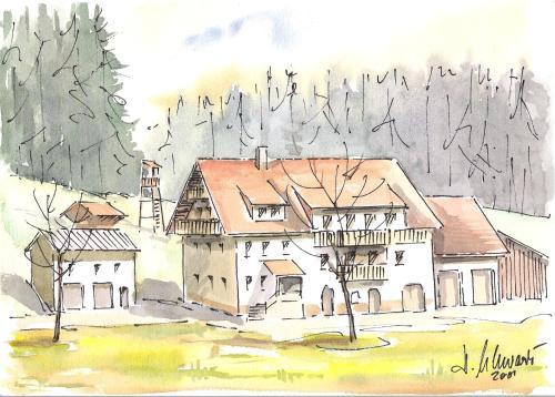 großzügig eingerichtete Ferienwohnung auf dem Hirschhof-Stehle - Apartment - Waldburg