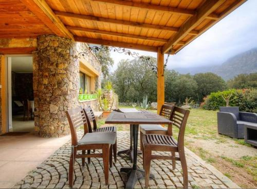 . Apartment with 2 bedrooms in Moltifao with wonderful mountain view furnished garden and WiFi 20 km from the slopes