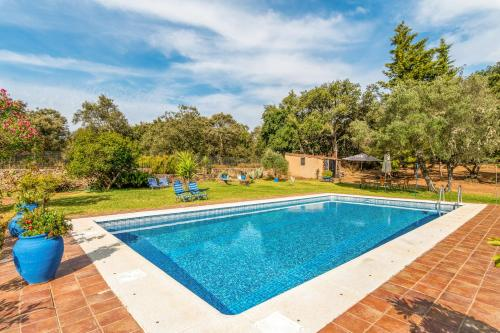 . Villa with 4 bedrooms in Cortegana, with wonderful mountain view, private pool and enclosed garden