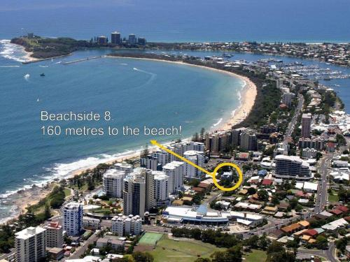 . Beachside 2 - 3 Bedroom Budget Apartment only one block from Mooloolaba Beach!