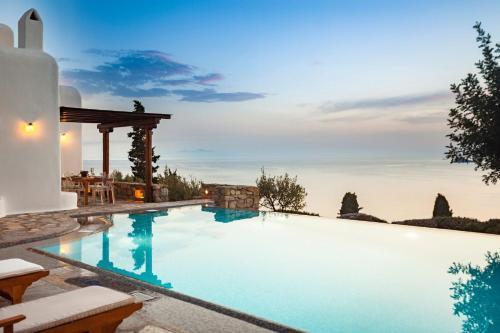 Excellent Mykonos Villa Villa Aphrodite 5 Bedrooms Stunning Sea Views Psarrou