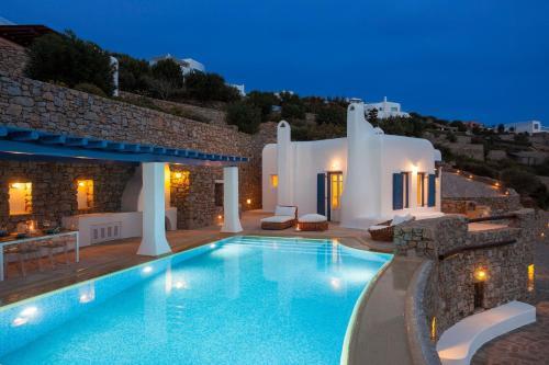 Excellent Mykonos Villa Villa Daphne 3 Bedrooms Stunning Sea Views Psarrou