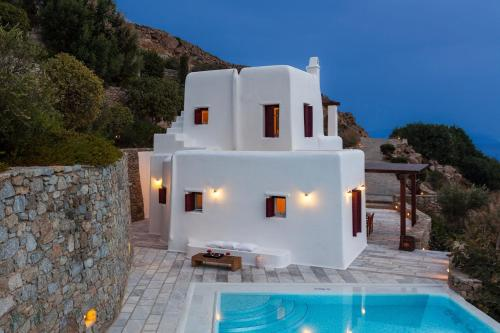 Excellent Mykonos Villa Villa Eirene 4 Bedrooms Stunning Sea Views Psarrou
