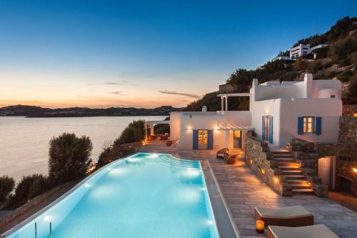 Excellent Mykonos Villa Villa Pinto 5 Bedrooms Stunning Sea Views Psarrou