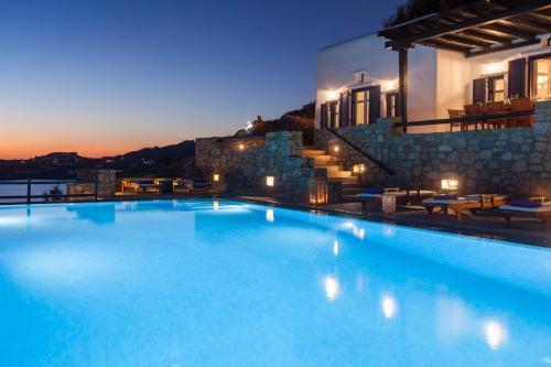 Excellent Mykonos Villa Villa Athena 5 Bedrooms Stunning Sea Views Psarrou