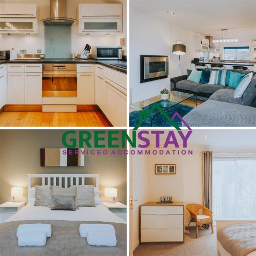 . The Penthouse Newquay by Greenstay Serviced Accommodation - Stunning 3 Bed Apartment - Ideal for Families, Contractors and Relocations -Parking , Netflix, Wi-Fi & Close To All Beaches