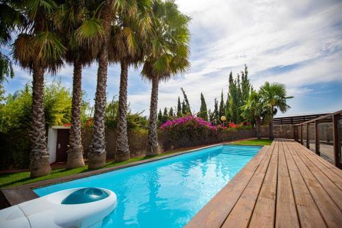 Habitación Cuádruple Deluxe con piscina privada Hotel Tancat de Codorniu 5