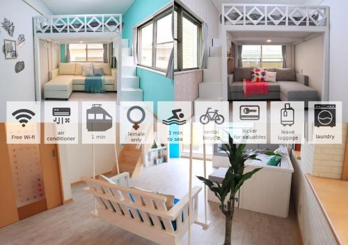Enoshima Guest House 134 women's room - Vacation STAY 60848