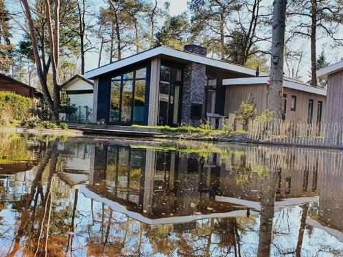 Cozy chalet with jetty at De Veluwe nature reserve
