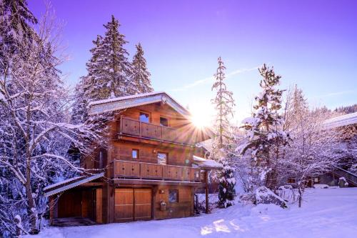Chalet Cote Coeur, La Tania, with Outdoor Hot Tub and 7 Ensuite Rooms - La Tania
