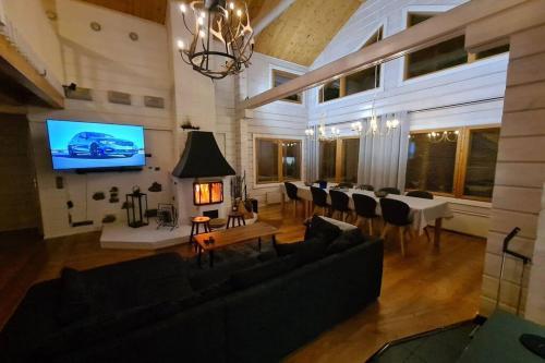 Lucky Levi Lodge Ski in Ski out 500 m Centrum via lift - Accommodation - Sirkka