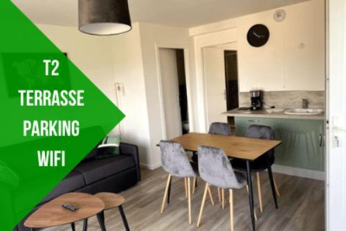 Le Vintage, T2, parking et wifi - Location saisonnière - Thonon-les-Bains