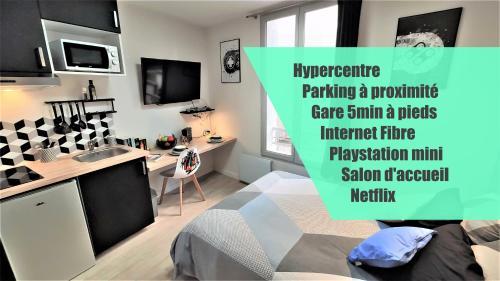 Home&Work 101 - HYPERCENTRE - Parking à proximité - Location saisonnière - Niort