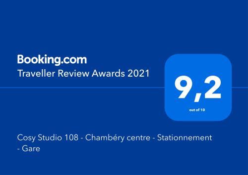 Cosy Studio 108 - Chambéry centre - Stationnement - Gare - Apartment - Chambéry