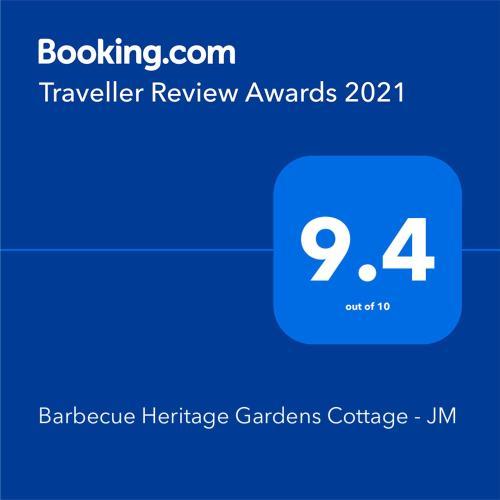 . Barbecue Heritage Gardens Cottage - JM