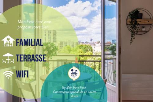 Le Zen lounge - rénové - métro 10 min pour Paris - 2-4 pers - Location saisonnière - Montreuil